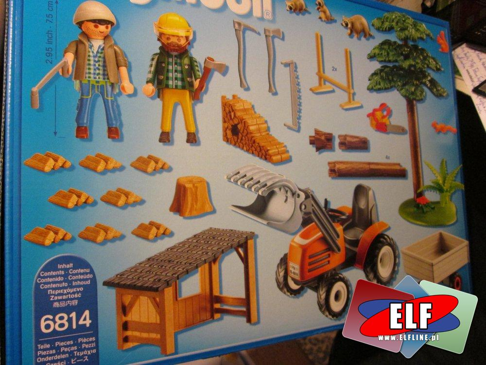 Playmobil Country, 6814 Drwal z traktorem, klocki, farma