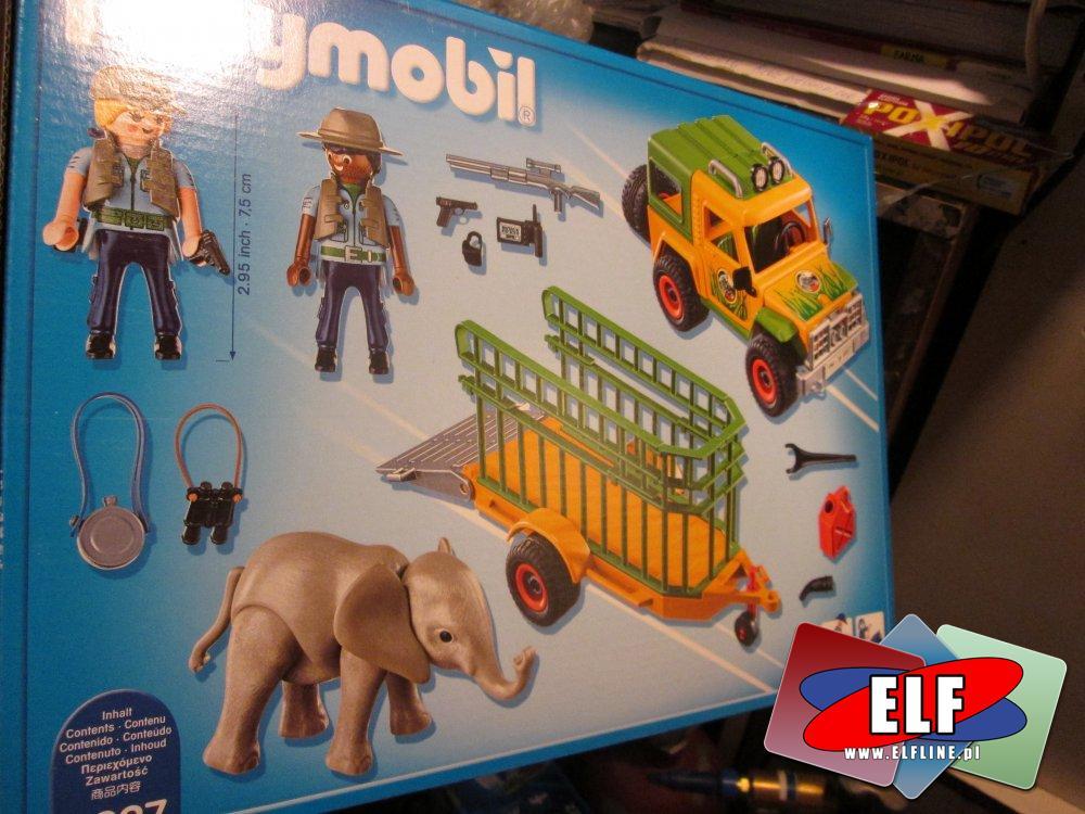 Playmobil Wild Life, 6938 Safari Samolot, 6937 Ranger samochód z przyczepą, dzikie życie, klocki, safari
