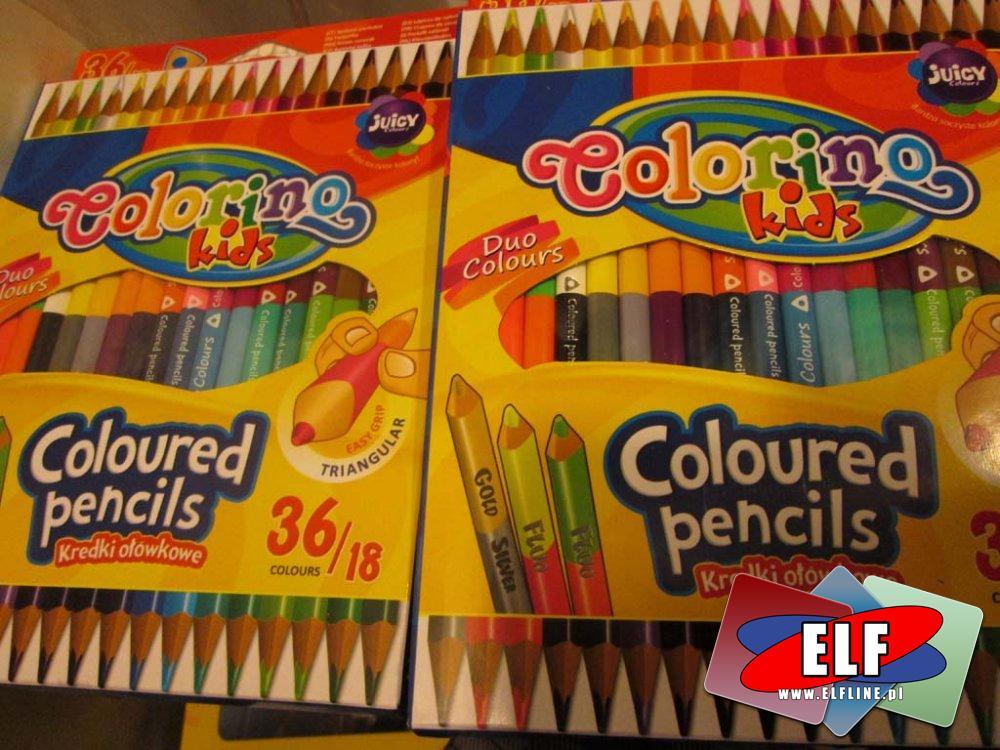 Colorino, kredki podwójne kolory, kredka, ołówkowe, ołówkowa