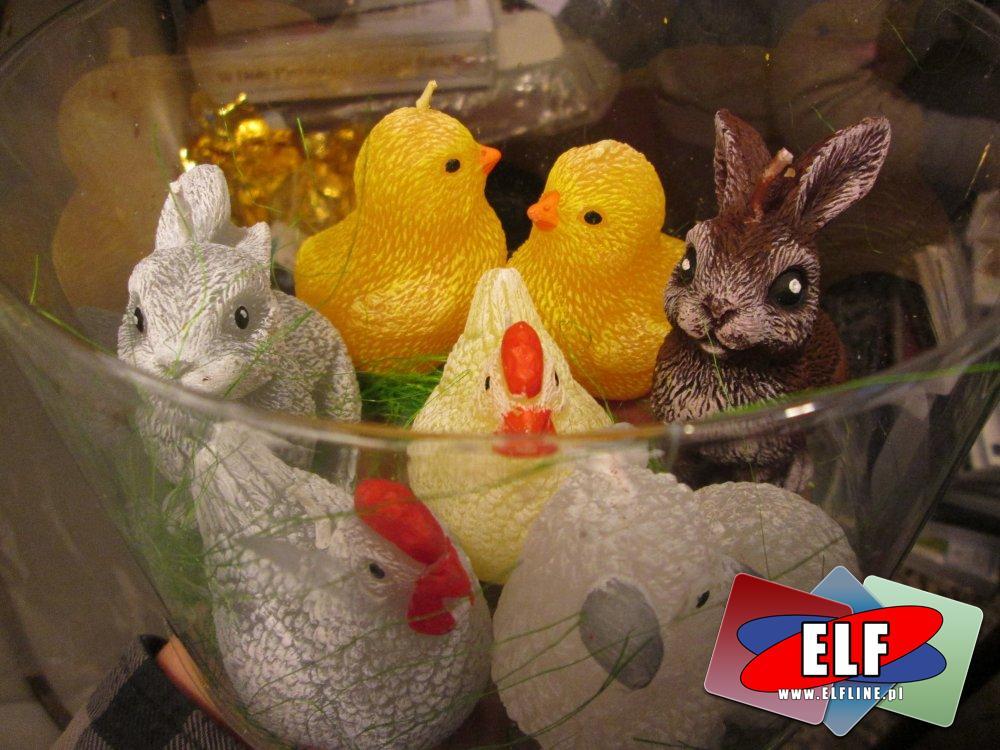 Świeczki, świeczka, zwierzątka, kurczaczek, króliczek, baranek, króliczki, króliczki, baranki