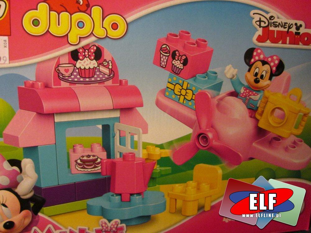 Lego Duplo, 10830 Kawiarnia Myszki Minnie, 10597 Parada urodzinowa myszki Miki i Minnie, 10607 Spider-Man warsztat, klocki