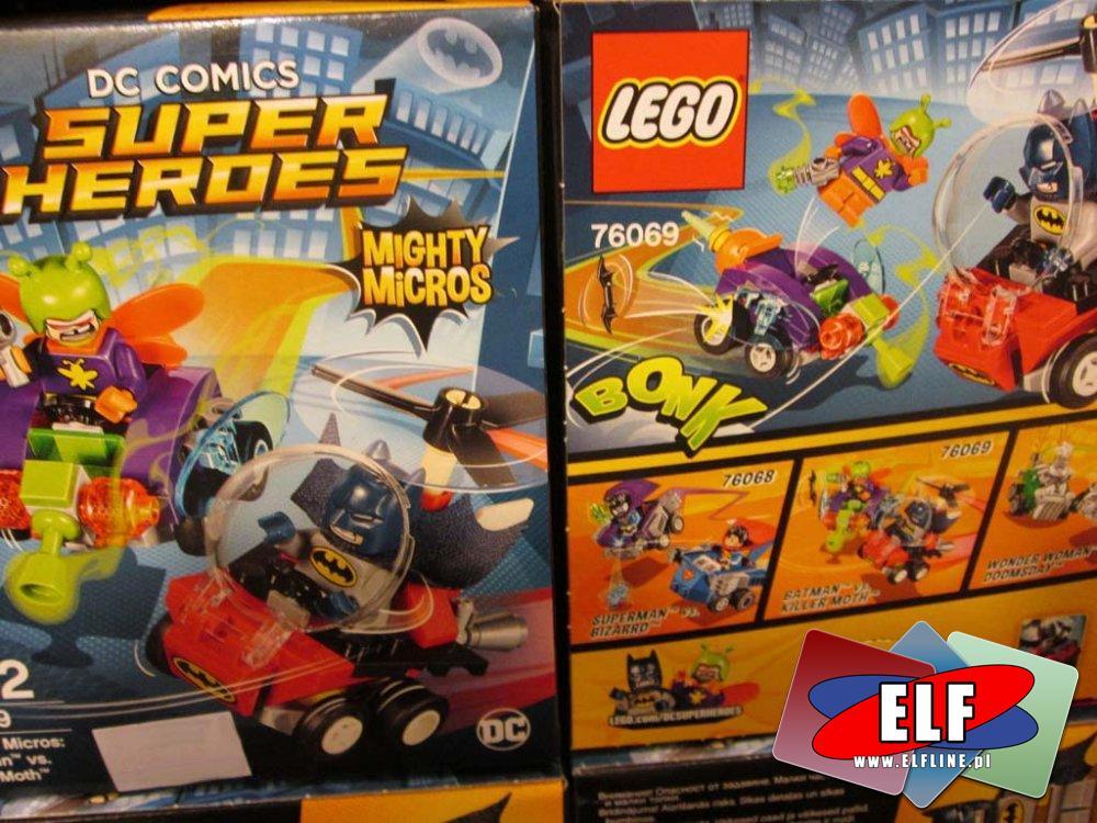 Lego Super Heroes, 76070 Wonder Woman, 76069 Batman kontra Killer Moth, 76068 Superman kontra Bizarro, 76073 Wolverine kontra Magneto, 76072 Iron Man ...