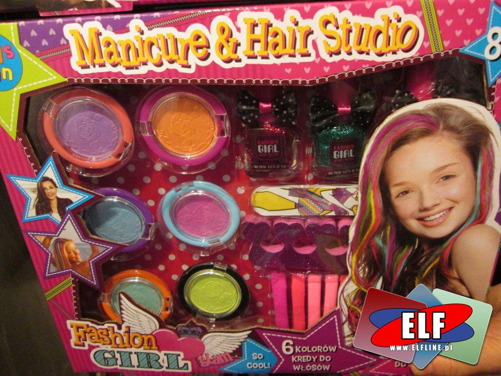 Manicure & Hair Studio, Fashion Girl, Manicure i studio fryzury, zestaw piękności, zestawy piękności