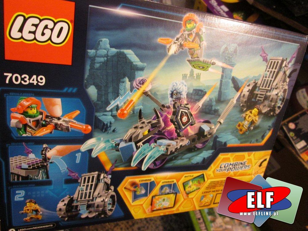 Lego Nexo Klights, 70349 Miażdżący pojazd Ruiny, klocki