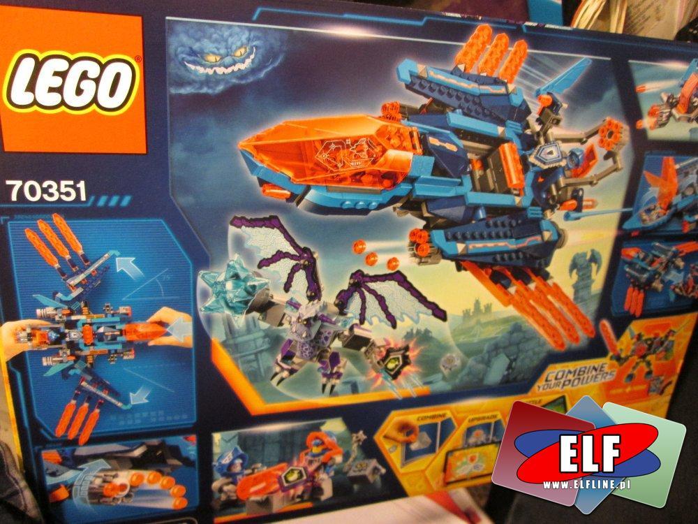 Lego Nexo Knights, 70351 Blasterowy myśliwiec Clay a, klocki