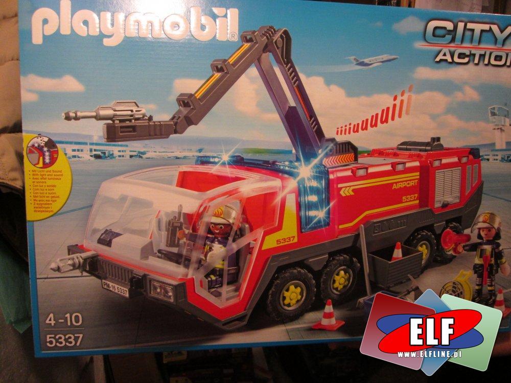 Playmobil 5337, Wóz straży pożarnej lotniskowej, straż pożarna, lotnisko, klocki, zabawka, zabawki, zabawkowa