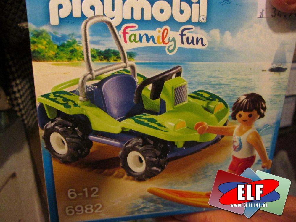 Playmobil 6982, Surfer z pojazdem buggy, samochód, samochody, klocki, zabawka, zabawki, zabawkowa