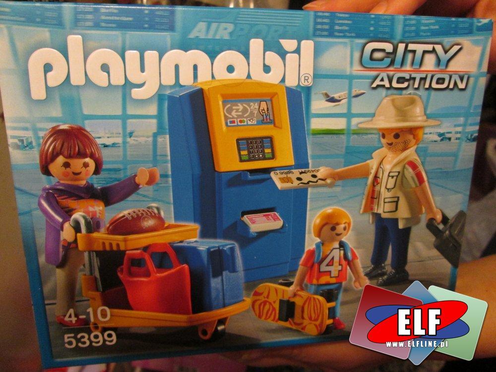 Playmobil 5399, Rodzina przy automacie check-in lotniskowym, lotnisko, klocki, zabawka, zabawki, zabawkowa
