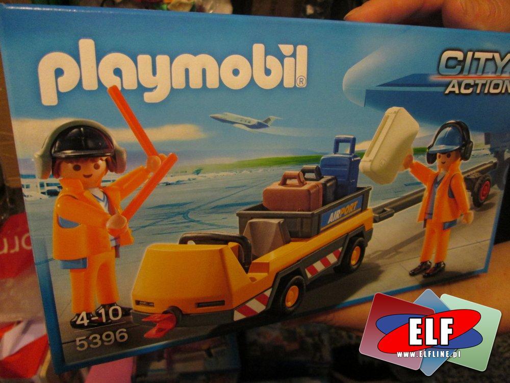 Playmobil 5396, Holownik samolotu z kontrolerem ruchu, Samochód do ciągania samolotów, zabawka, zabawki, zabawkowa