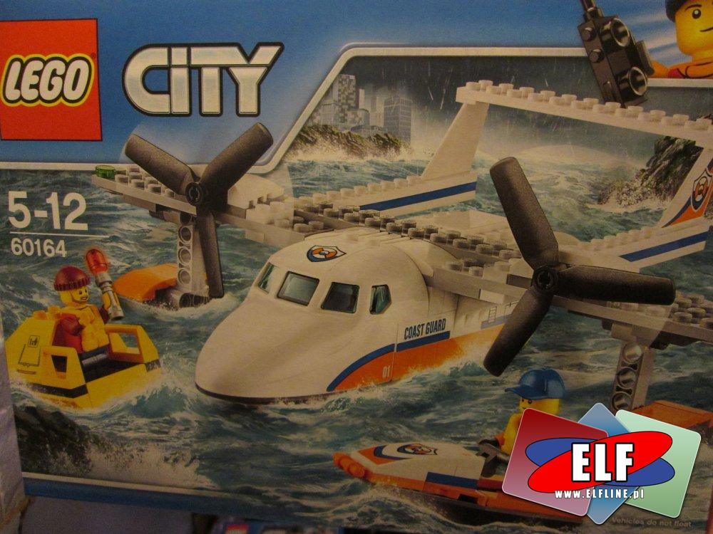 Lego City, 60165 Terenówka szybkiego reagowania, 60164 Hydroplan ratowniczy, 60158 Helikopter transportowy, 60163 Straż przybrzeżna, 60157 Dżun...