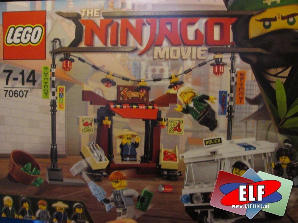 Lego Ninjago, 70607 Pościg, 70608 Upadek mistrza, 70606 Szkolenie Spinjitzu, 70609 Bombowiec Manta Ray, klocki