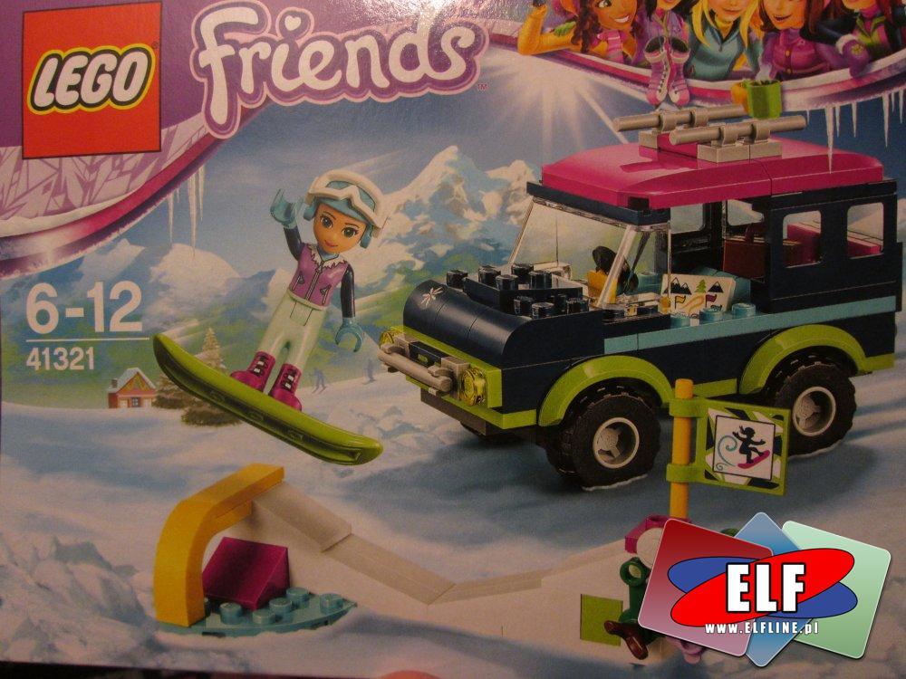 Lego Friends, 41322 Lodowisko w zimowym kurorcie, 41323 Górski domek, 41316 Transporter motorówek Andrei, 41321 Wycieczka samochodem ter...