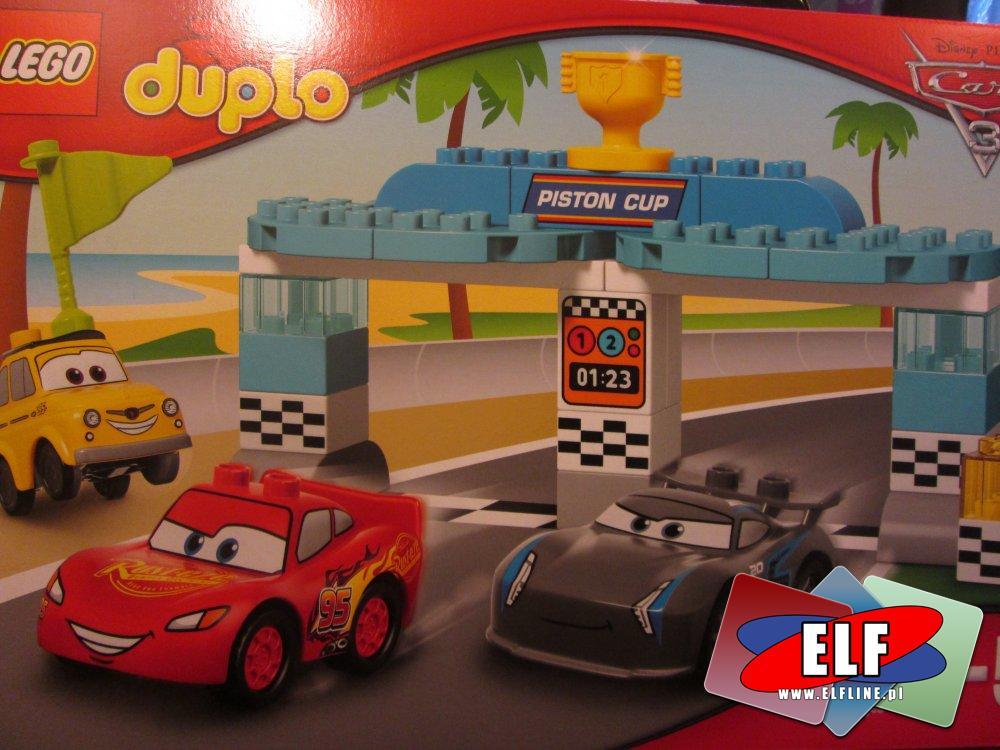 Lego Duplo, 10857 Wyścig o Złoty Tłok, 10856 Szopa Złomka, klocki