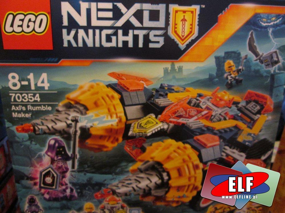 Lego Nexo Knights, 70356 Niszczycielski Kamienny Kolos, 70354 Rozbijacz Axla, 70353 Heligulec, 70361 Spadający smok Macybota, 70373 minifiguraki, kloc...