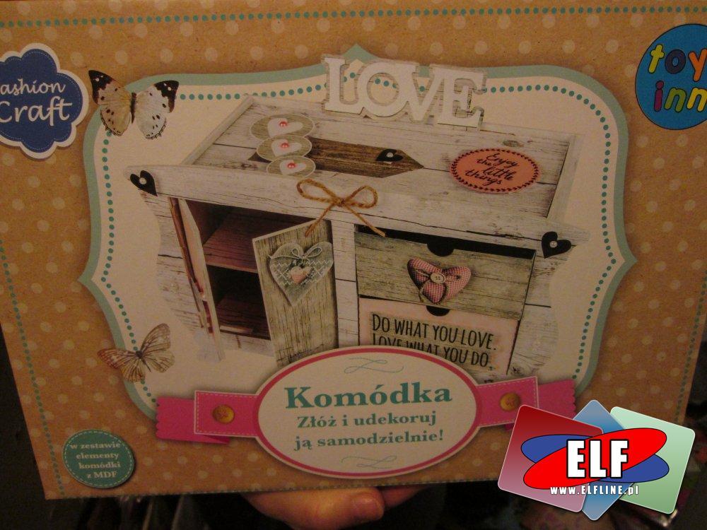 Komódka do samodzielnego złożenia i udekorowania, zestaw kreatywny, zabawka kreatywna, zestawy kreatywne zabawki