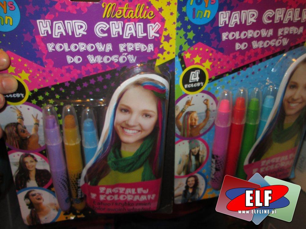 Kolorowa kreda do włosów, Hair Chalk, kredy do włosów