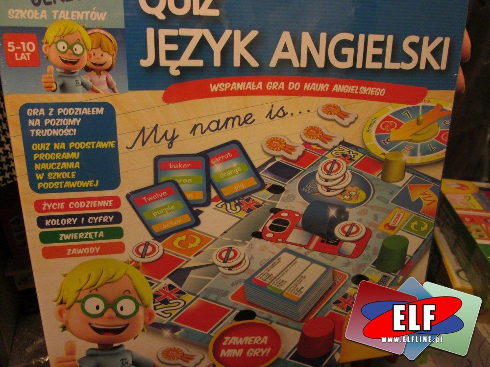 Quiz Język Angielski, Gra do nauki angielskiego, Gry edukacyjne, edukacyjna gra