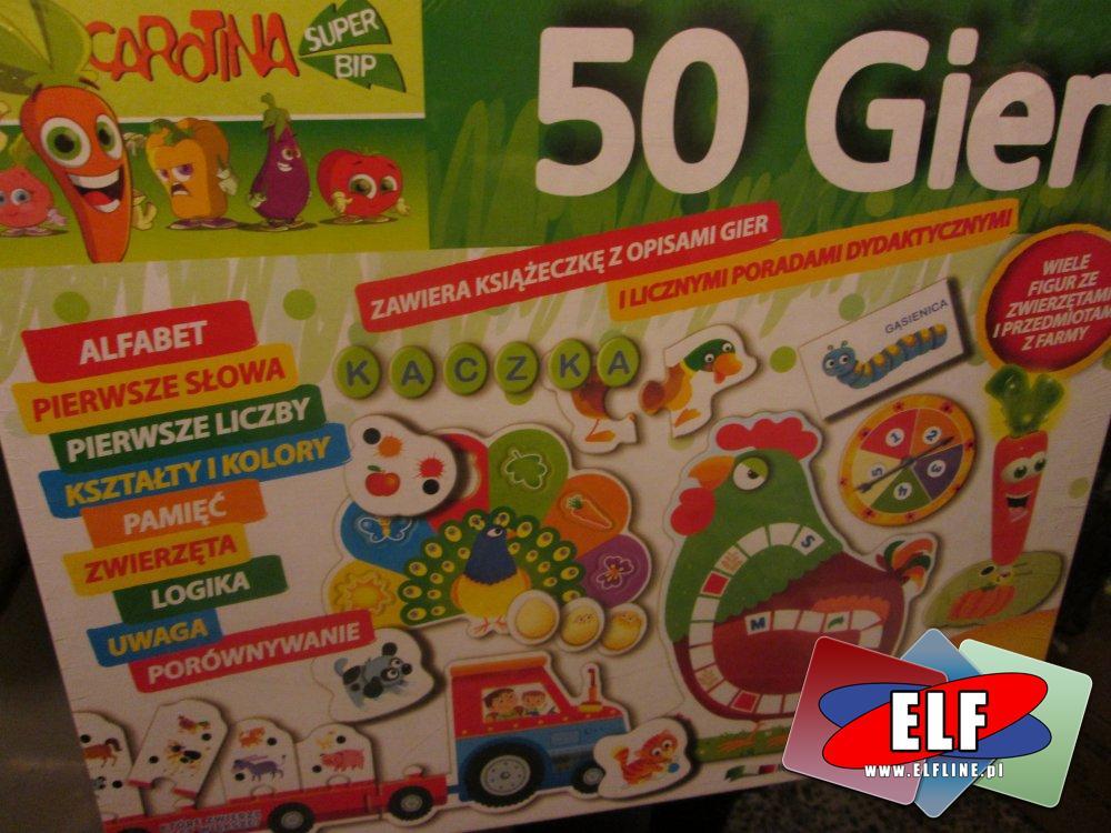 Laboratorium 10 gier, 20 gier i 50 gier, zaliczone na 6 pierwszy słownik, karotka, gry, gra, edukacyjne, edukacyjna