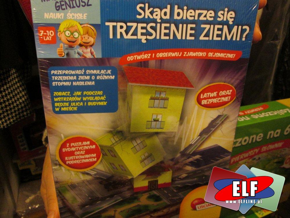 Skąd bierze się trzęsienie ziemi, zestaw edukacyjny, zestawy edukacyjne, zabawka do nauki, edukacyjne zabawki, edukacyjna