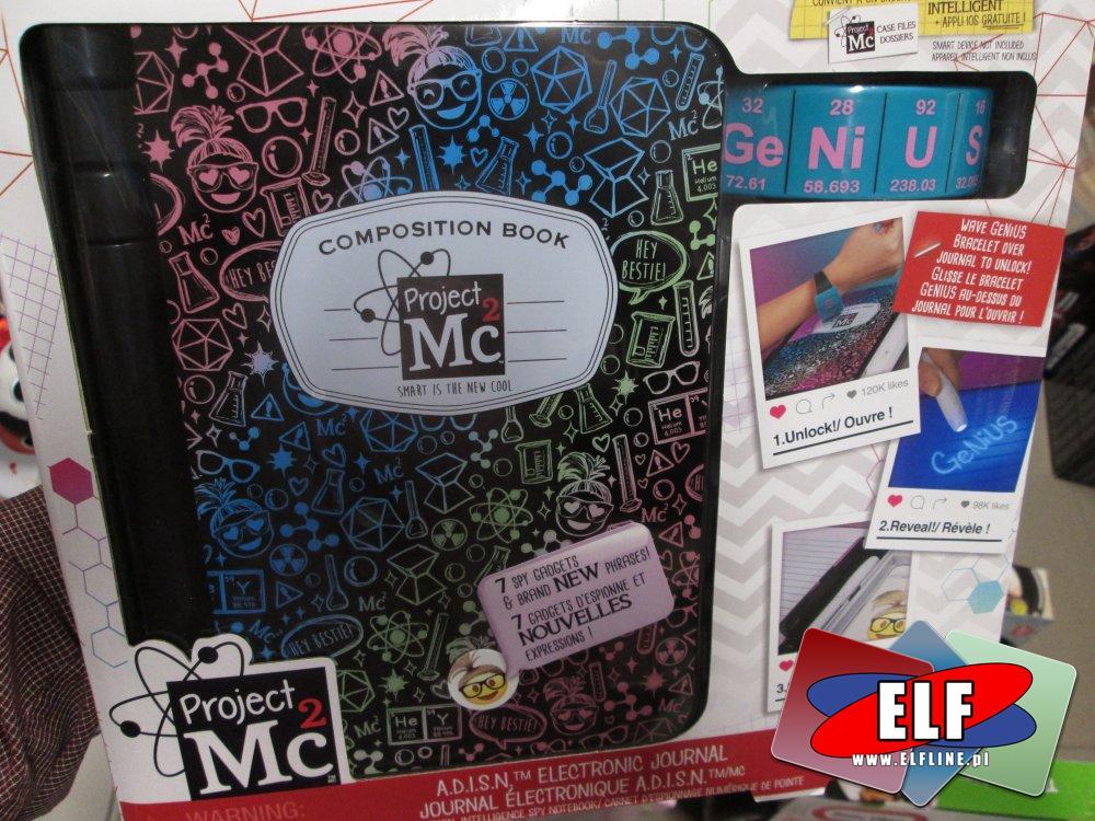 Projekt Mc2, Magiczny PAMIĘTNIK szpiegowski na hasło, pamiętniki, ultrafiolet itp.