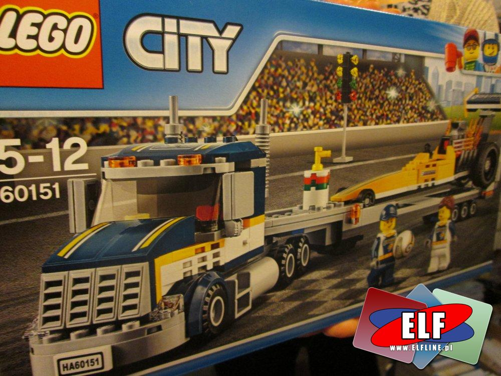 Lego City, 60151 Transporter dragsterów, klocki