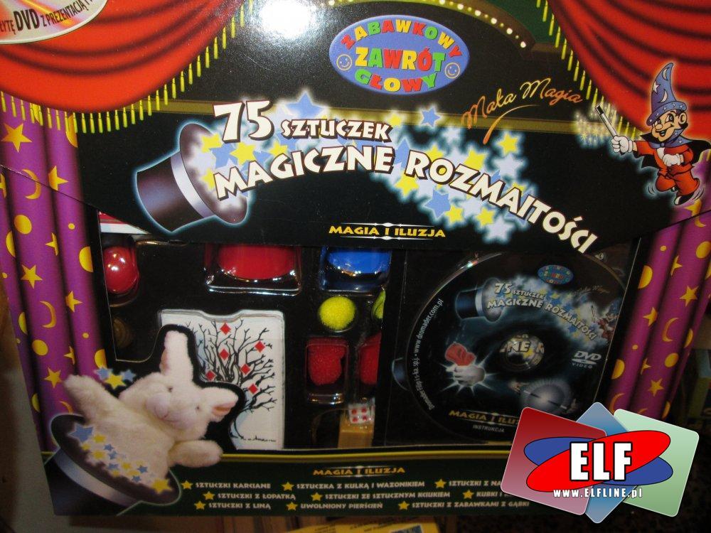 Sztuczki Magiczne, 75 sztuczek magicznych, zestaw magika, magia