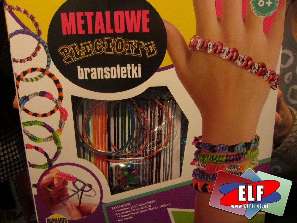Metalowe Plecione Bransoletki, Bransoletka, Biżuteria emaliowana, zestaw kreatywny, zestawy artystyczne, kreatywne, artystyczny
