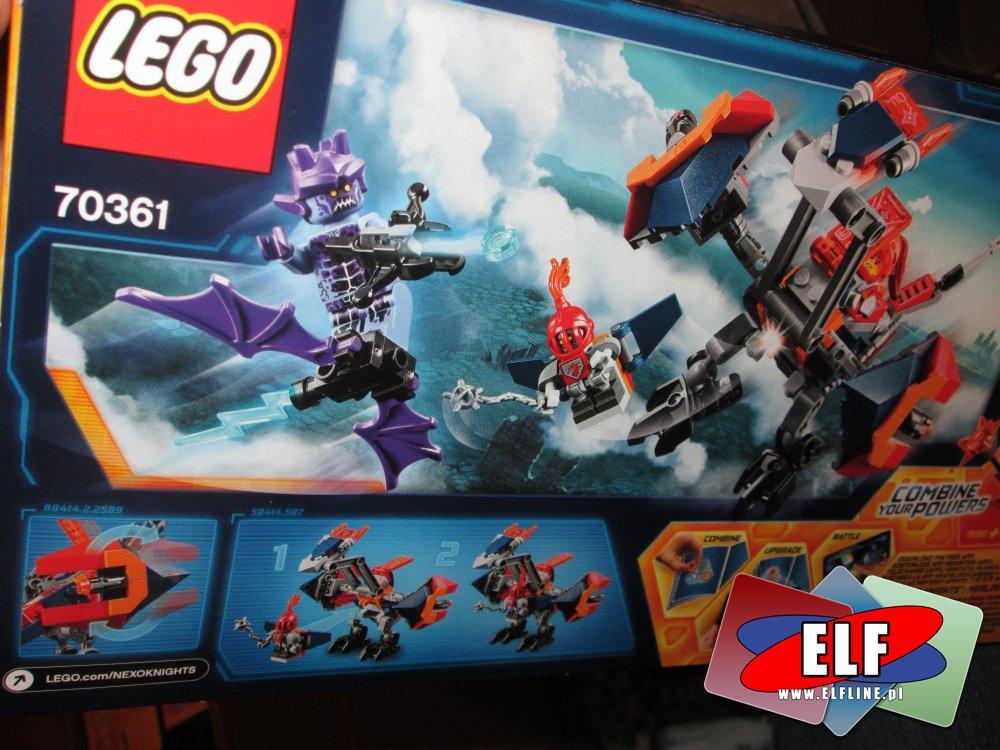 Lego Nexo Knights, 70361 Spadający smok Macybota, klocki