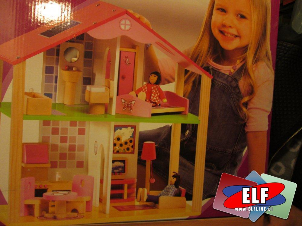 Drewniany domek dla lalek, domki