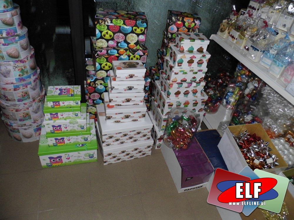 Pudełka na prezenty i akcesoria opakowaniowe, Opakowania, Wstążki prezentowe i inne akcesoria do pakowania prezentów