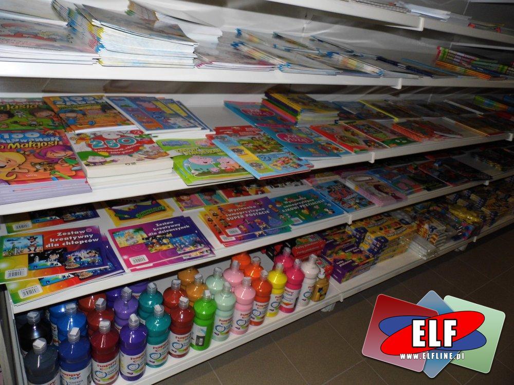 Książki i inne papiernicze akcesoria kreatywne i edukacyjne dla dzieci