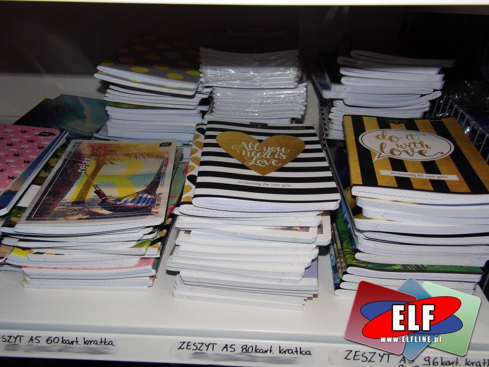 Zeszyty, Zeszyt, Bruliony, Brulion, Kołonotatniki, Kołonotatnik i inne akcesoria papiernicze i piśmiennicze