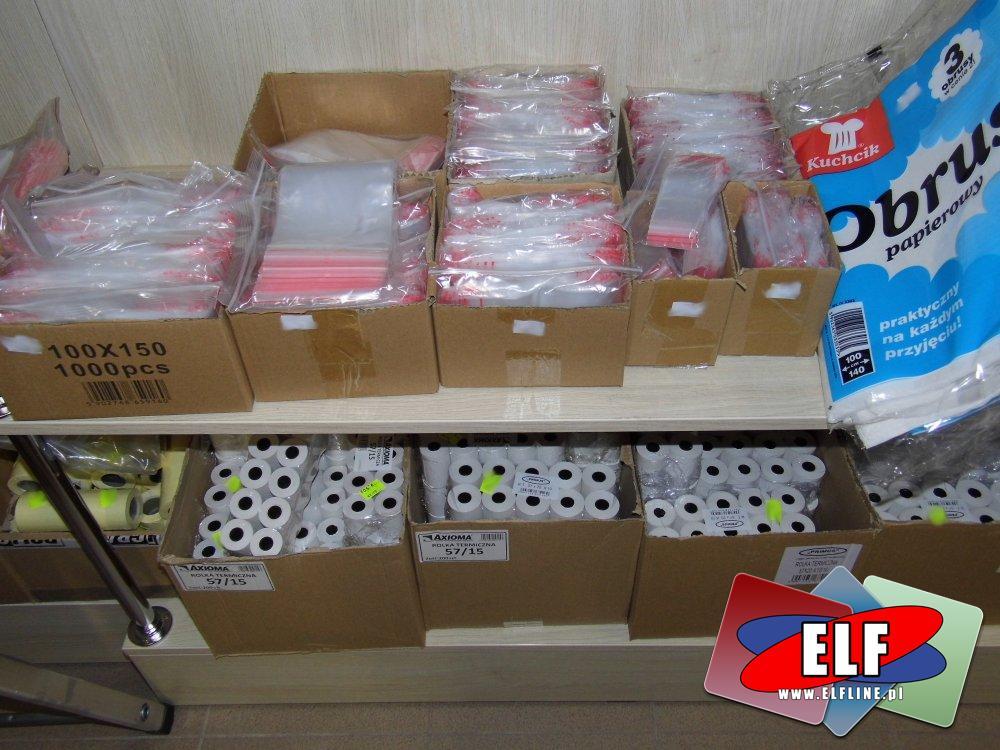 Woreczki strunowe, Rolki termiczne do kas i innych urządzeń, Woreczek strunowy, Rolka termiczna