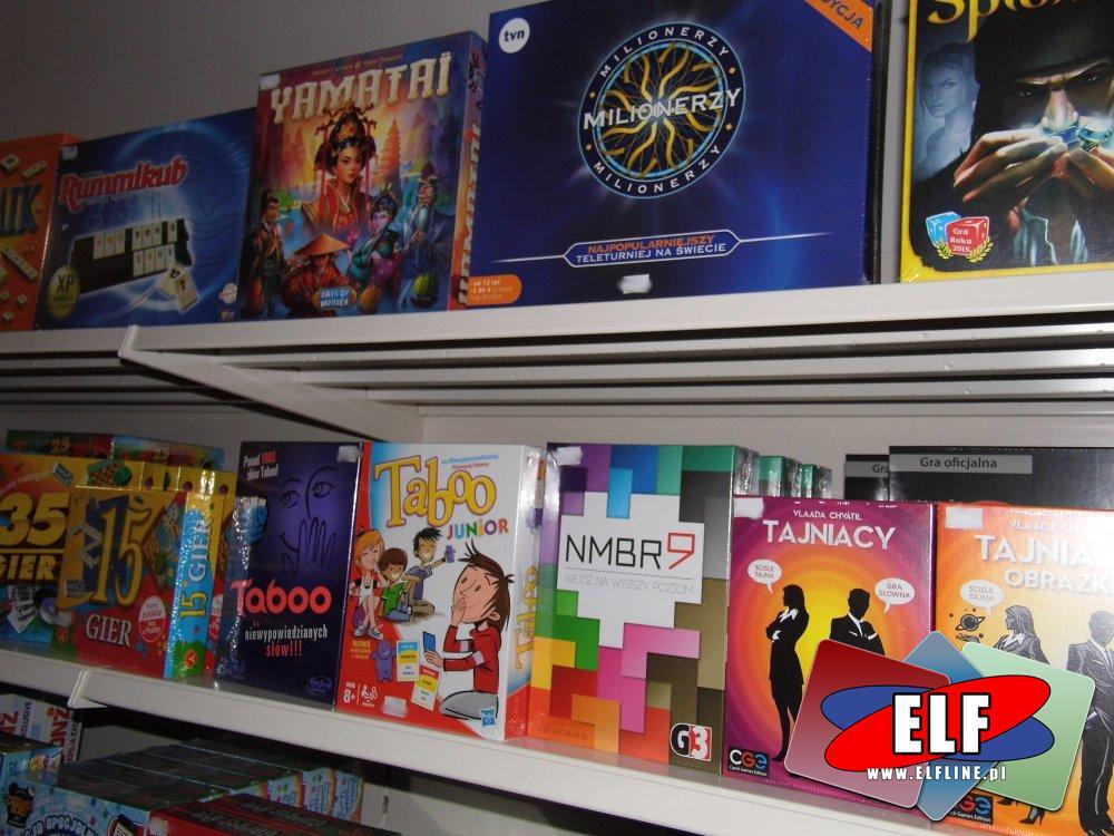Gry, Yamatai, Milionerzy, Tajniacy, Taboo, 15 gier, 30 gier, Number 9 i inne gry