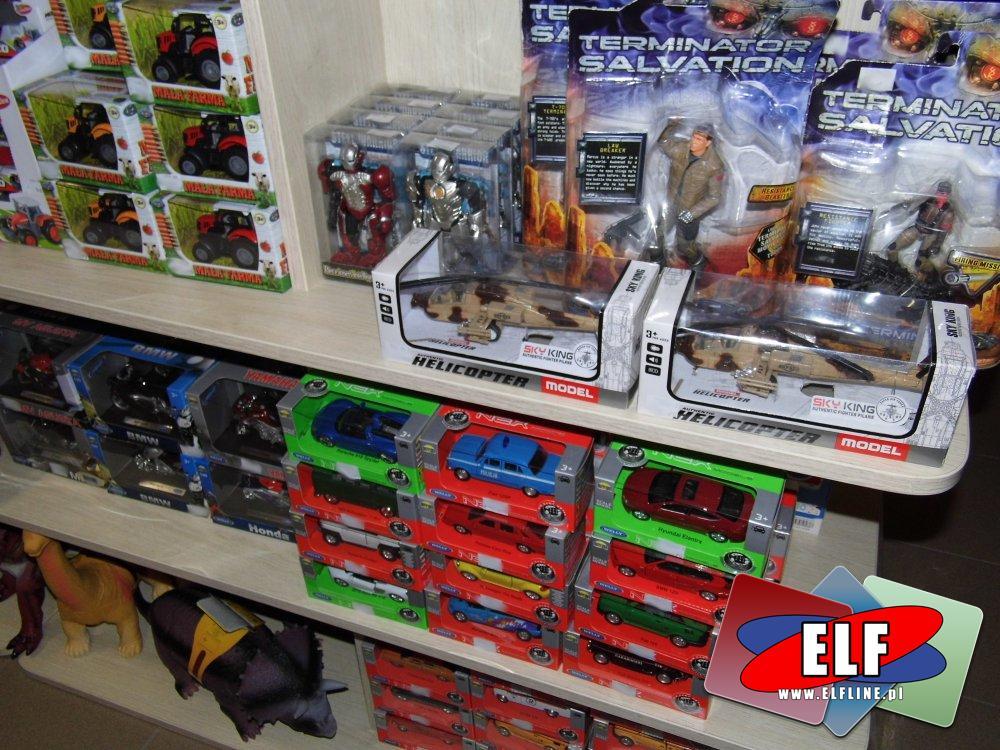 Terminator Salvation, Dinozaury, Samochody, Traktory i inne zabawki