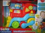 Interaktywna lokomotywa, pociąg, pociągi, Clementoni Baby, zabawki interaktywne, zabawka interaktywna