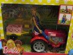 Barbie na traktorze, lalka, lalki Barbie na traktorze, lalka, lalki