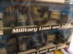 Ciężarówka i wózek widłowy wojskowa, wojskowe, logistyka wojskowa, ciężarówki wojskowe, transport wojskowy, zabawka, zabawki