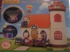 Sylvanian Families, Domki, Delicious Restaurant, Studio mody, Starry Point Lighthouse, Restauracja, Lodziarnia, Domek latarnia morska, Creamy galanto shop, Designer Studio i inne