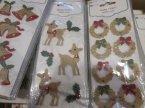 Świąteczne naklejki 3D, Bożonarodzeniowe, Boże narodzenie, Mikołaj, Święta