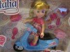 Lalka Natalia na skuterze, motorku, Lalki