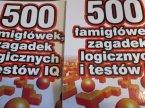 Książka 500 Łamigłówek zgadywanek logicznych i testów, książki edukacyjne