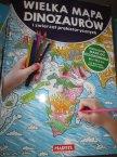 Wielka Mapa Dinozaurów i zwierząt prehistorycznych, Rozkładana mapa do kolorowania, mapy, kolorowanka, kolorowanki, edukacyjna, edukacyjne