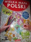 Wielka Mapa Polski, Rozkładana mapa do kolorowania, mapy, kolorowanka, kolorowanki, edukacyjna, edukacyjne