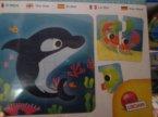 Puzzle edukacyjne dla dzieci, uczą dopasowywać kształty obrazków