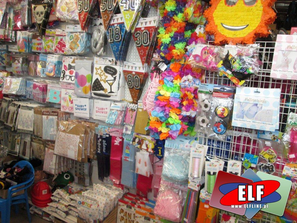 Artykuły imprezowe, balony, girlandy, konfetti, hel, śmieszne upominki i ozdoby, wszystko na imprezę, party, przyjęcie itp.