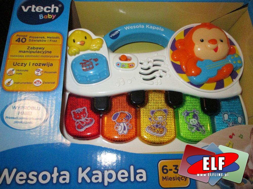 vTech baby, Wesoła kapela, pianinko, pianinka, organki, instrument muzyczny, instrumenty muzyczne, zabawka, zabawki