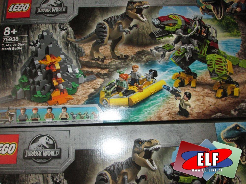 Lego Jurassic World, 75938 Tyranozaur kontra mechaniczny dinozaur, klocki