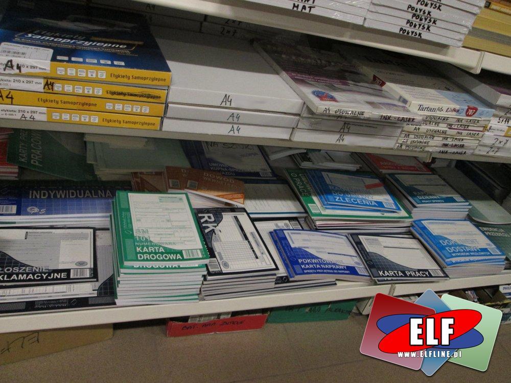 Druki akcydensowe, Faktura, Nota księgowa, Rejestr wyposażenia, KP, KW, Rachunek, Recepta, Druk przelewu podatki i inne