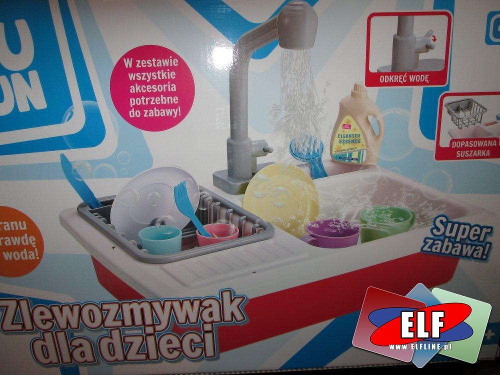 Zlewozmywak dla dzieci, zabawa w dom, restaurację, naczynia zabawki